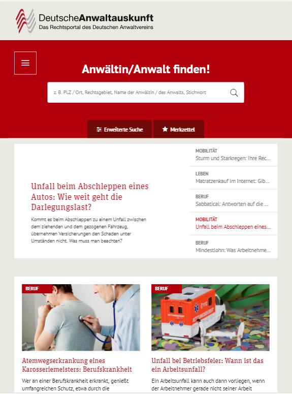 anwaltauskunft.de » Urban Media
