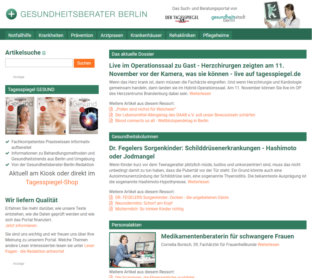 Gesundheitsberater-Berlin.de » Urban Media