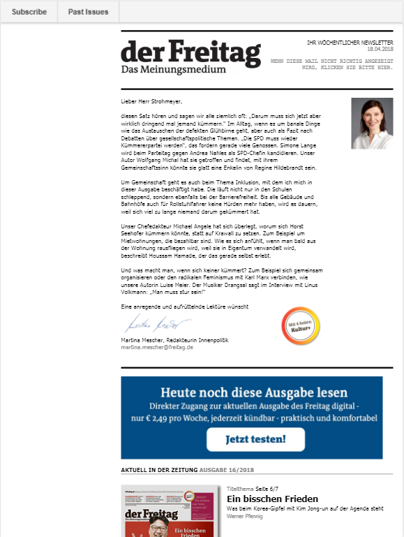Der Freitag Newsletter » Urban Media