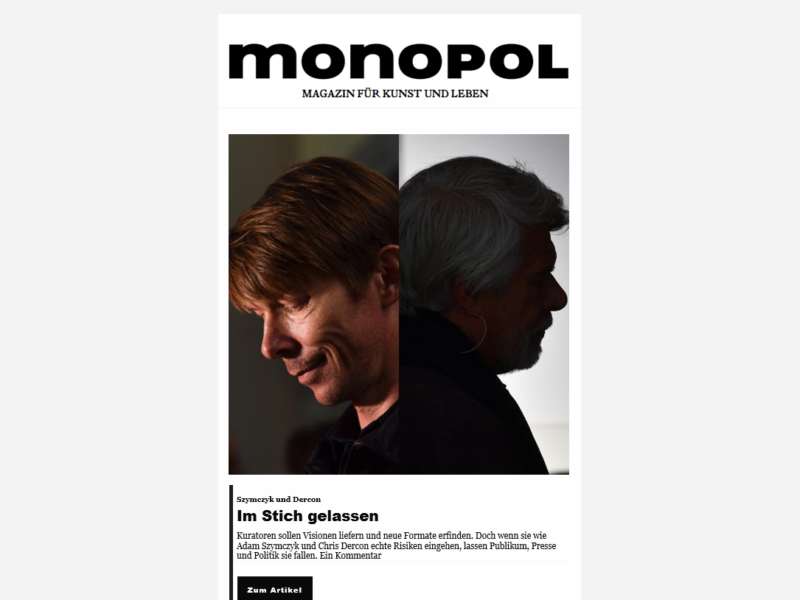 Monopol Newsletter » Urban Media