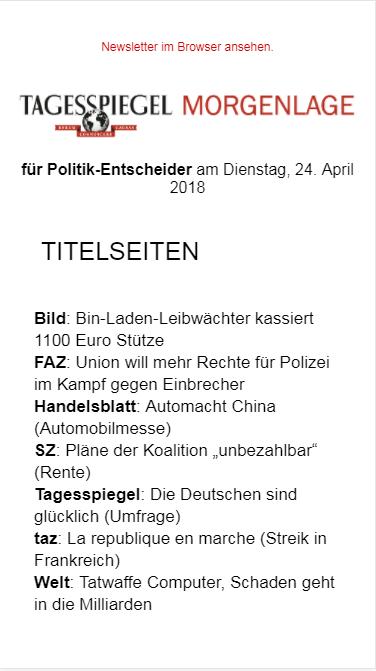 Morgenlage Politik » Urban Media
