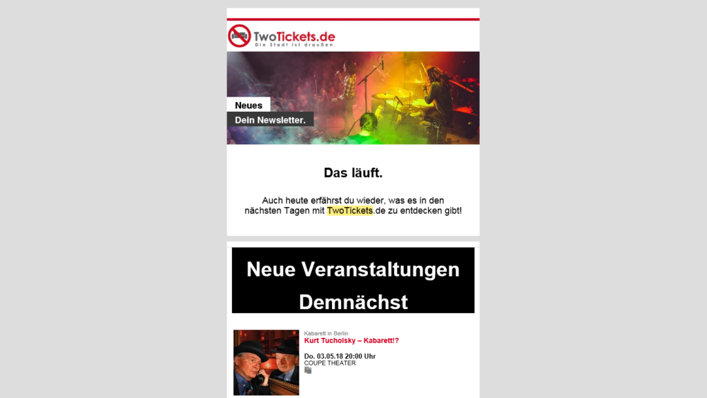 TwoTickets Newsletter » Urban Media