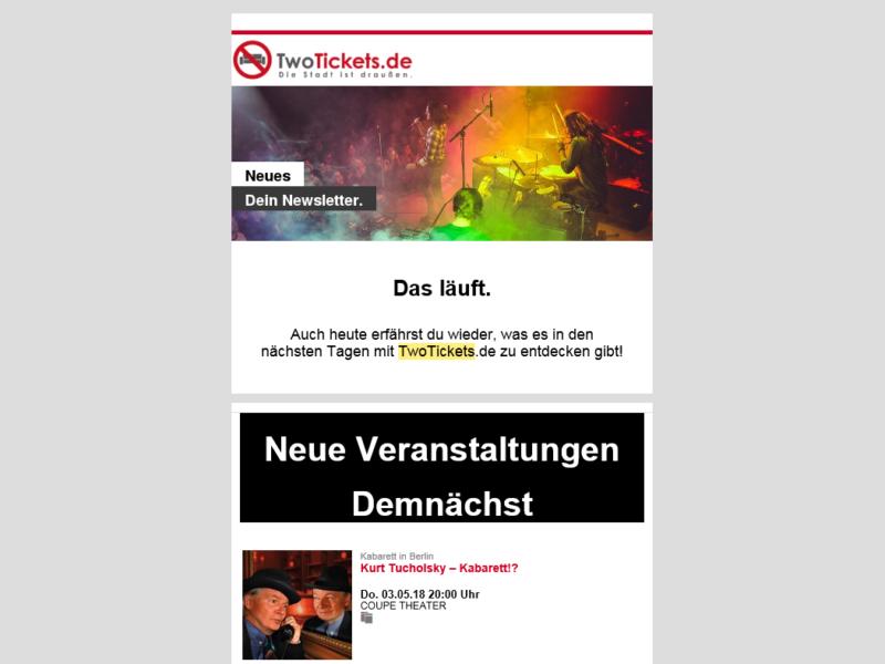 TwoTickets Newsletter » Urban Media
