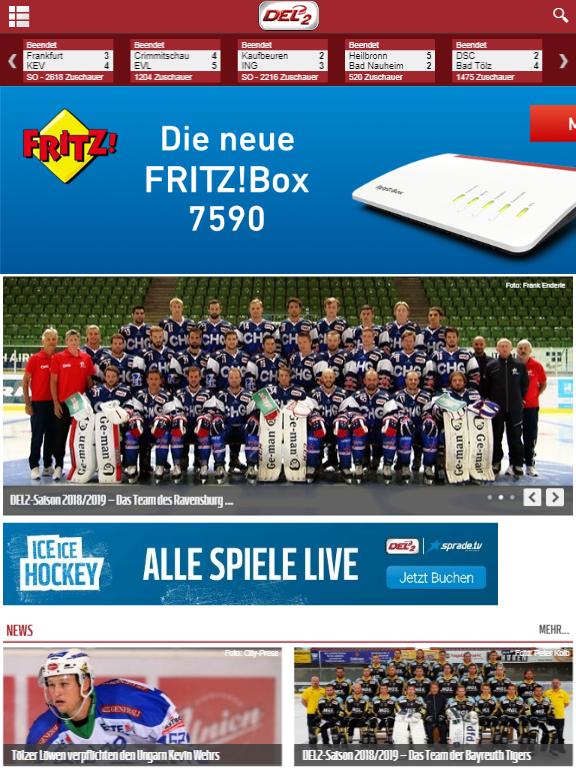 Deutsche Eishockey Liga 2 » Urban Media