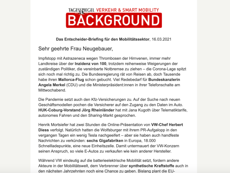 Tagesspiegel Background » Urban Media